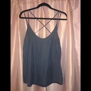 Women's tank top denim top S